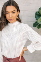 Pintuck Lace Blouse