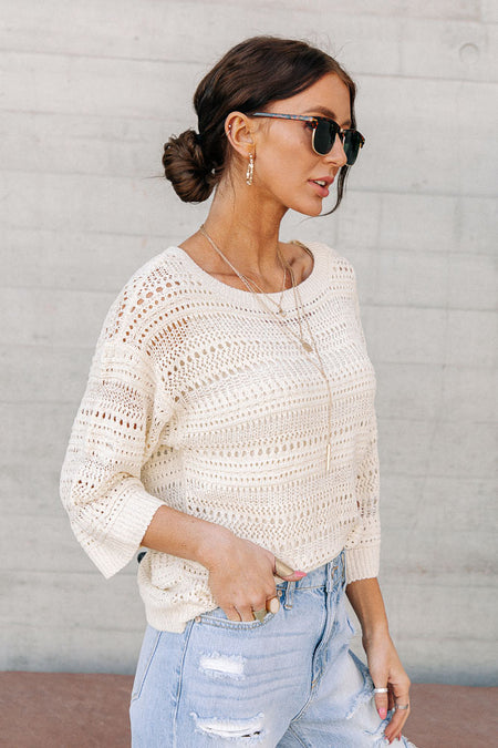 Vero Moda Crochet Top in Cream
