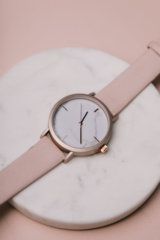 Marisol Leather Watch in Pink