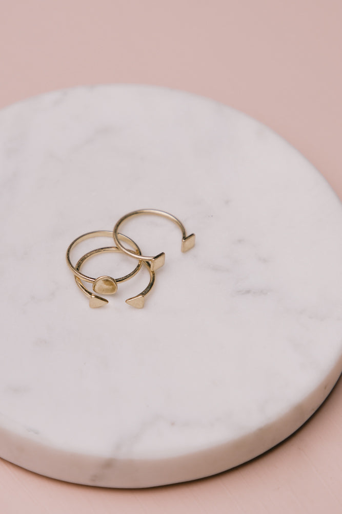 Iven Stackable Ring Set in Gold