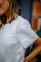 Flower Vine Embroidered Top