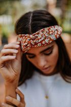 Radley Floral Headband in Rust