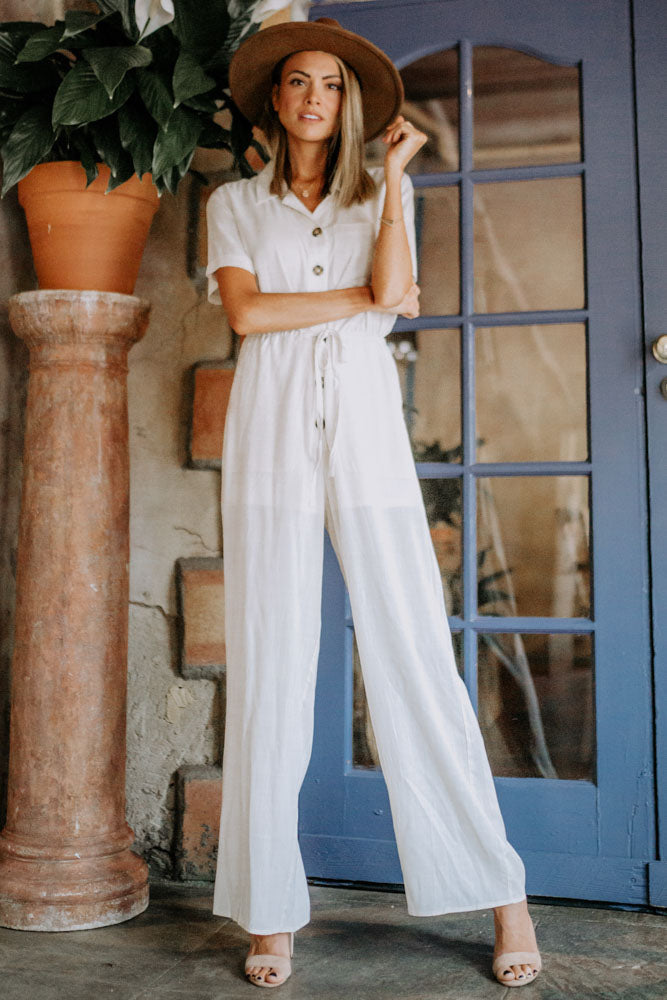 Nehsen Linen Jumpsuit in Oatmeal