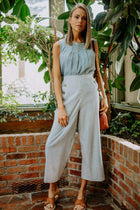 Georgia Wide Leg Striped Bottoms