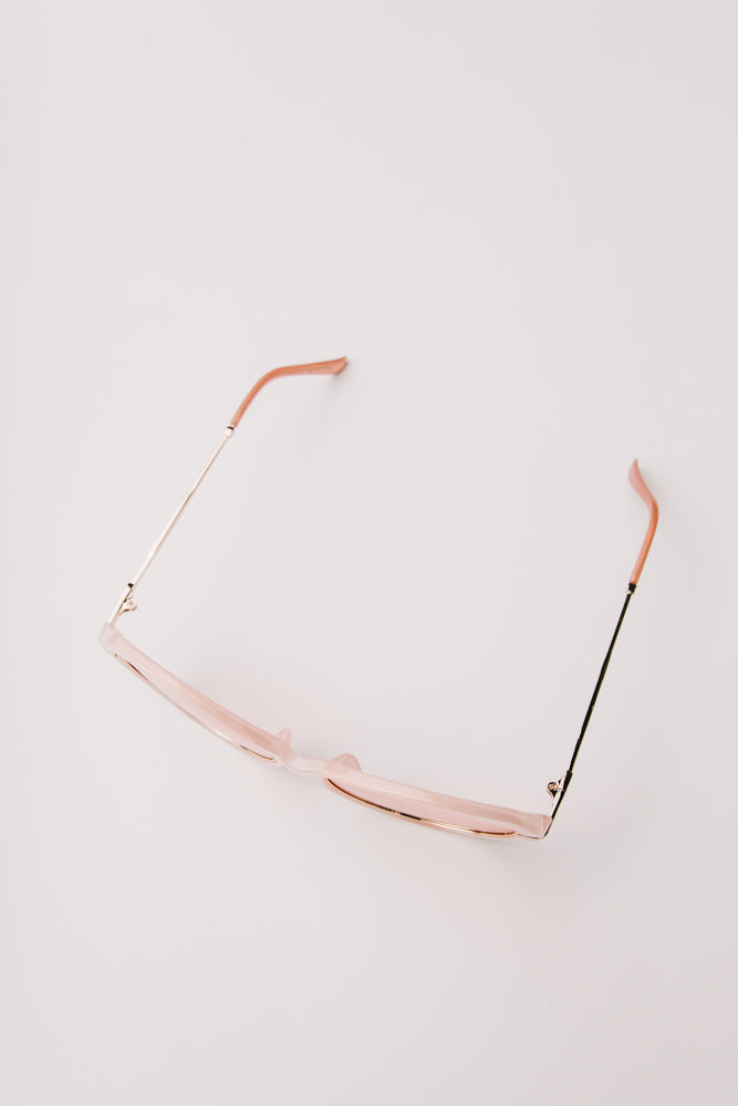 pink tinted sunglasses bohme
