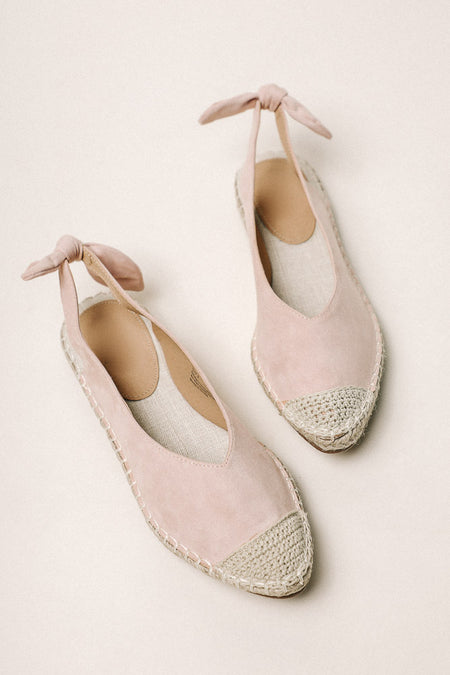 Melody Espadrilles in Blush - FINAL SALE