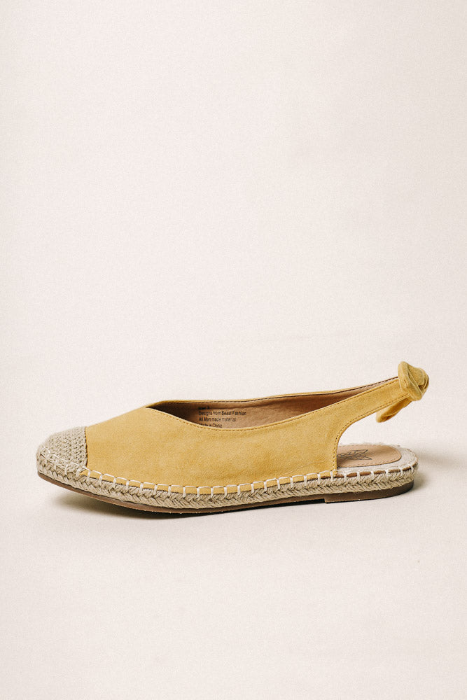 Melody Espadrilles in Yellow - FINAL SALE