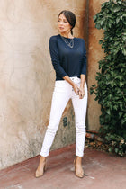 Vero Moda Emilie Lightweight Sweater in Navy