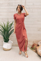 Vero Moda Noelle Dress in Rust