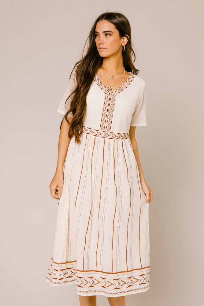 Cisco Embroidered Dress