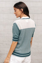 Penny Color Block Collared Top