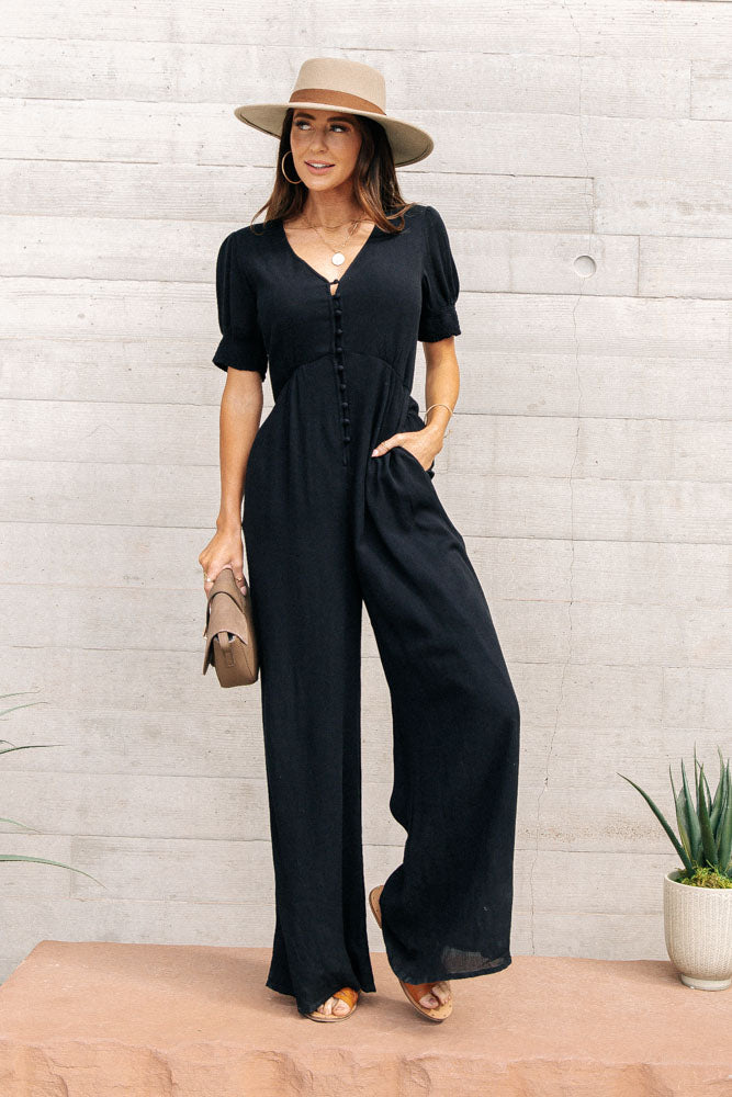 Hazel Button Up Jumpsuit