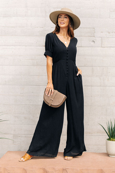 Hazel Button Up Jumpsuit-FINAL SALE