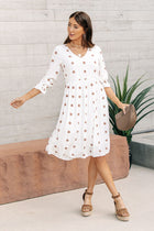 Kali Polka Dot Midi Dress