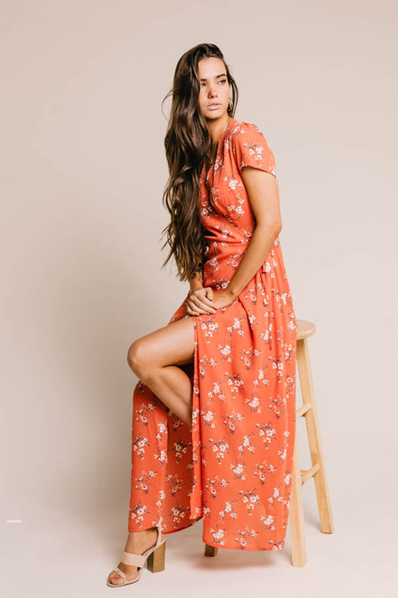 Kathryn Floral Wrap Dress