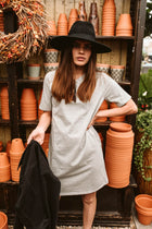Easy Does It T-Shirt Dress In Grey - Final Sale