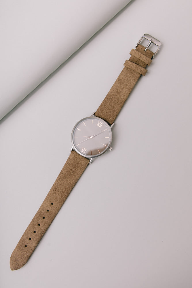 Classic St. Andrews Rose Gold Dial Taupe Watch