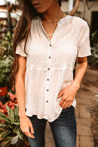 Sofia Smocked Button Down