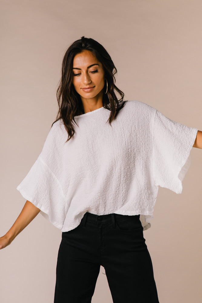 Emah Oversized Cropped Tee