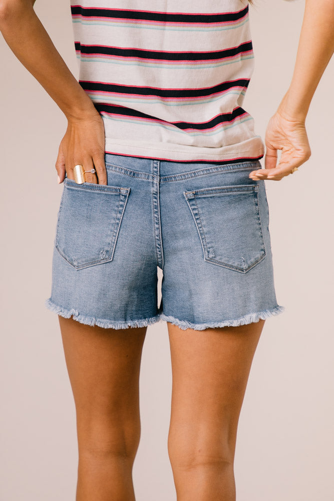 Klique B. High Rise Denim Shorts