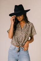 Cheetah Button Down Top