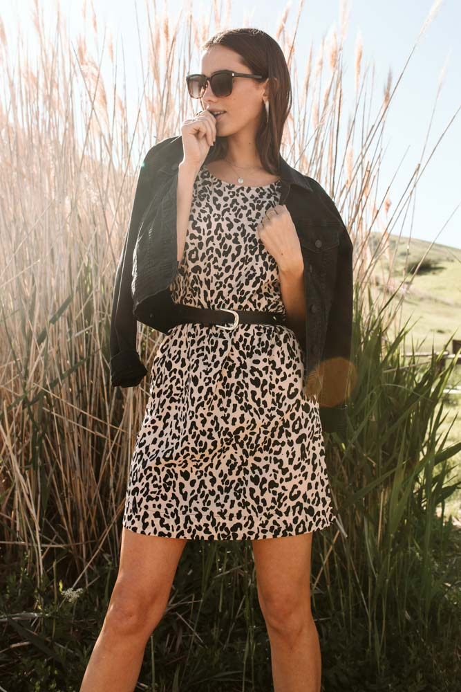 Zoeh Leopard Shift Dress