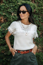 Crochet Sweater Tee