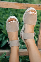 Valley Espadrille Sandal in Taupe
