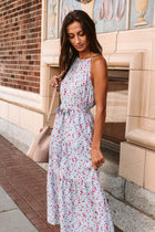 Painted Floral Halter Midi Dress (Online Only!)