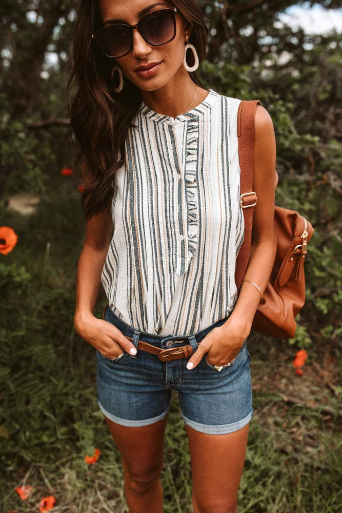 Eleanor Ruffle Button Up Top