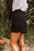 Frances Paperbag Shorts in Black
