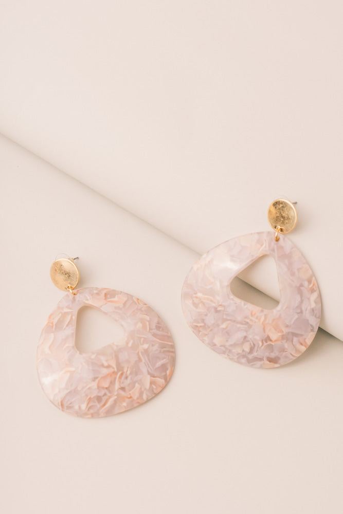 Lilac Petal Earrings