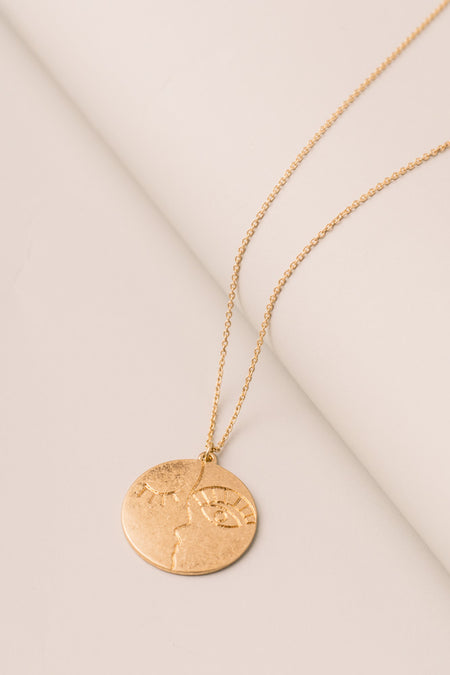 Face to Face Necklace in Gold