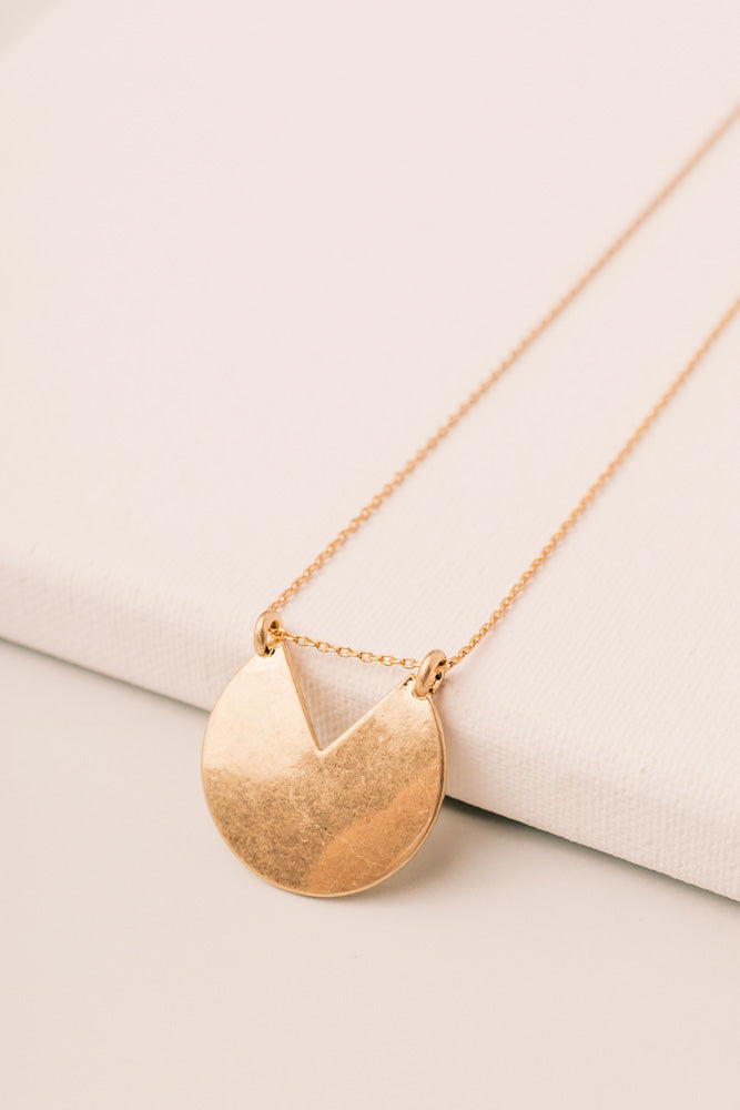 Cut Out Circle Necklace