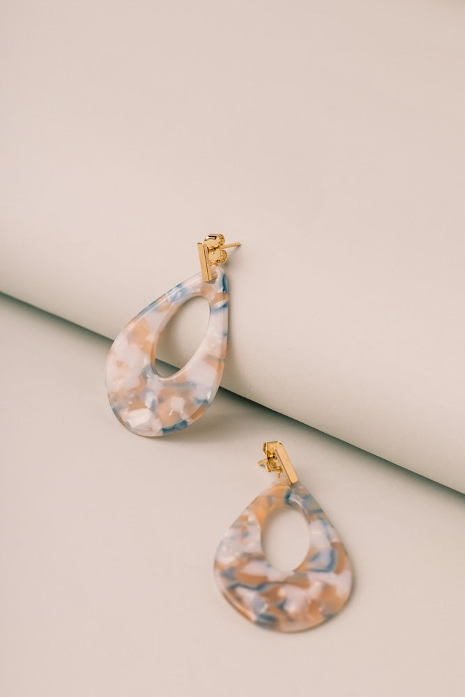 Drip Drop Earrings in Ivory