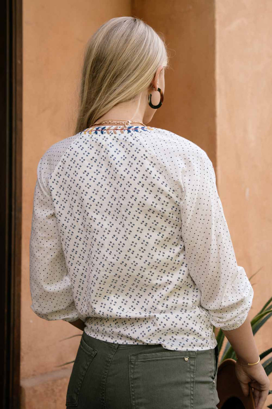 Spanish Embroidered Peasant Top