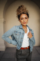 Kirra Cropped Denim Jacket