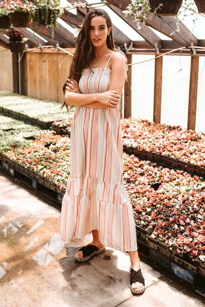 Madison Striped Maxi Dress
