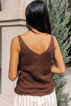 Vero Moda Knit Tank in Brown