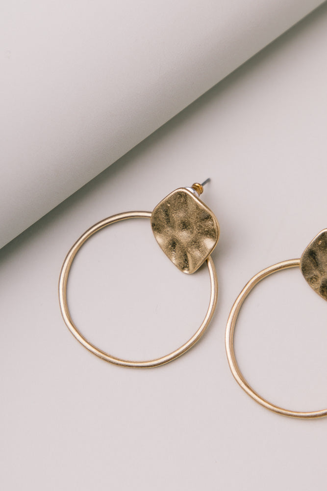 Aya Circle Hoop Earrings