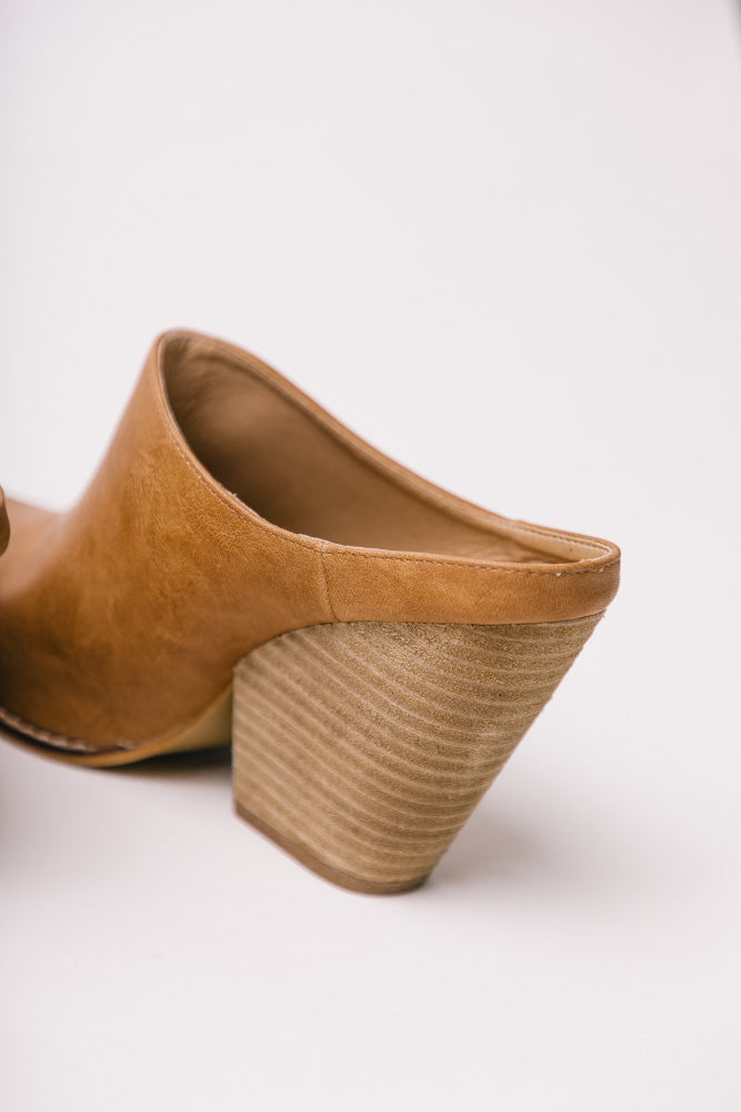 Sam Heeled Mules in Camel