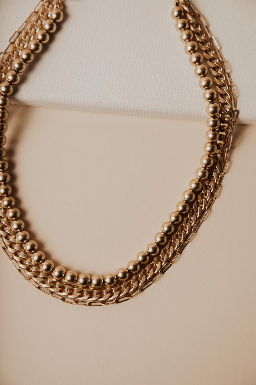 Chunky Layered Chain Necklace
