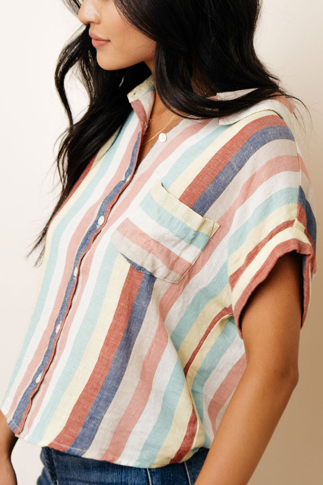Chroma Striped Button Up