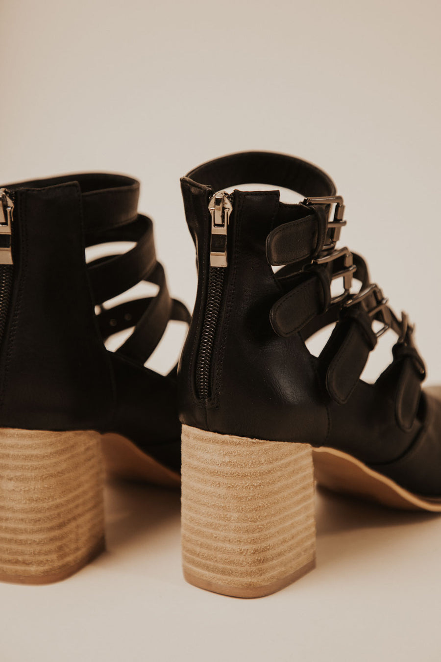 Claira Buckle Bootie in Black