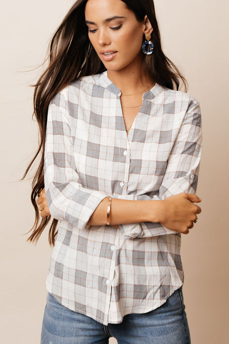 Dacie Plaid Button Down - FINAL SALE