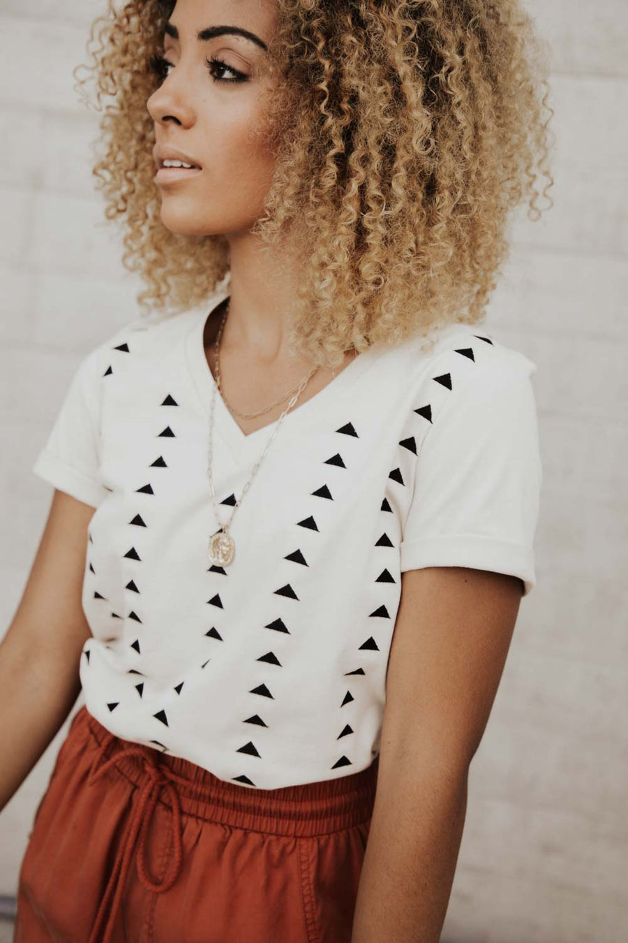Embroidered Triangle Tee