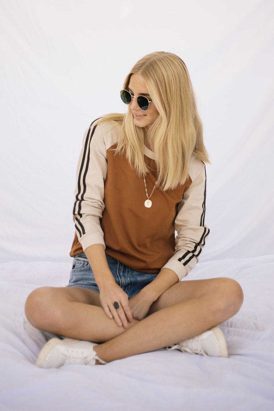Retro Striped Sweater in Brown
