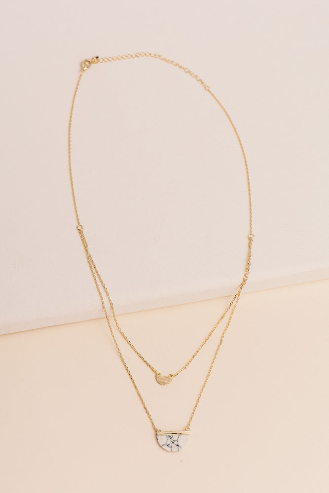 Half Circle Layered Necklace