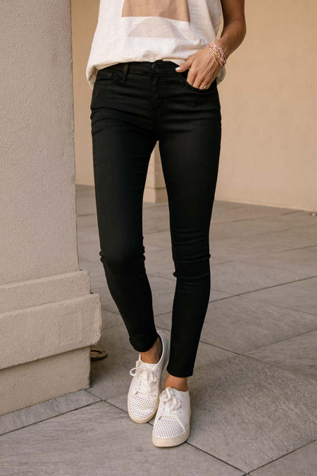 Flying Monkey Mid Rise Black Skinny Denim