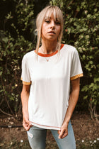 Ollie Ringer Tee in Rust